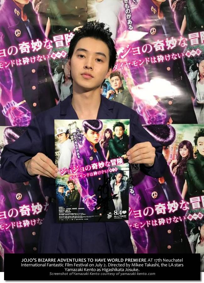 Kento Yamazaki promoting his movie Jojo's Bizarre Adventures