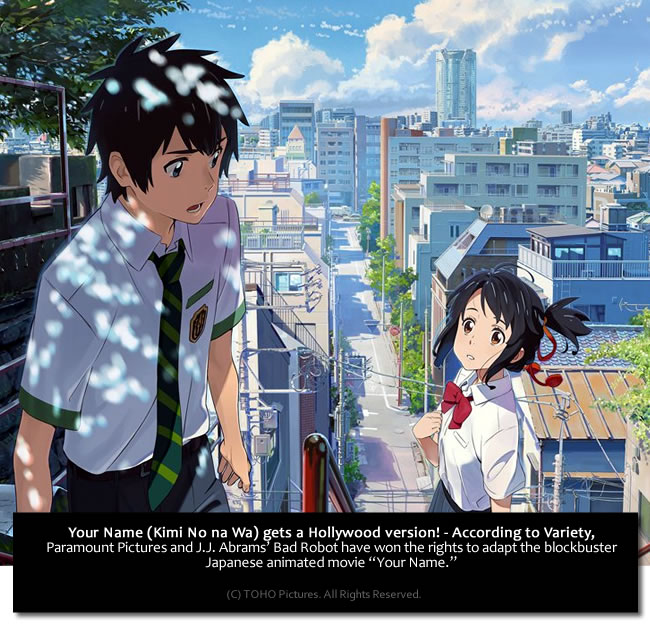 Kimi No Na Wa - Your Name - to have a Hollywood live-action movie